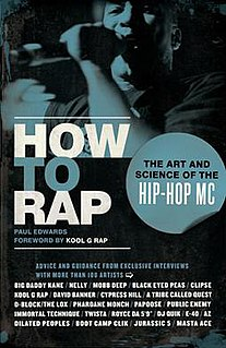 <i>How to Rap</i> book by Paul A. Edwards