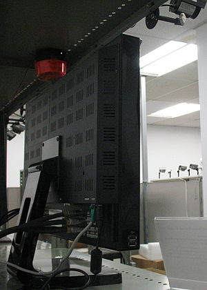 Digital video recorder - Side view of an LCD monitor with built-in DVR