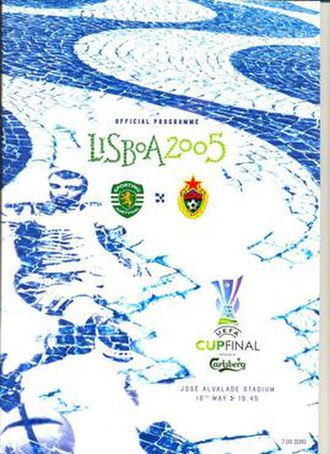 2005 UEFA Cup Final - Match programme cover