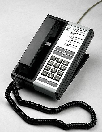 AT&T Merlin - AT&T Merlin 5-button telephone (voice terminal) manufactured in early 1985