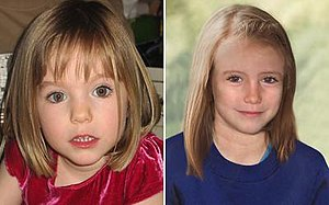 Disappearance of Madeleine McCann - Image: Madeleine Mc Cann, aged three and (age progressed) nine