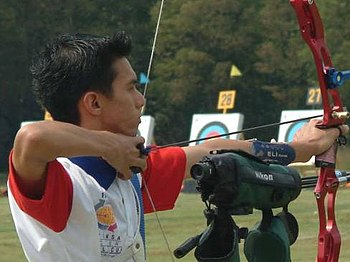 Archer Mark Javier at the Meteksan Archery Wor...