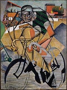 <i>Au Vélodrome</i> painting by Jean Metzinger
