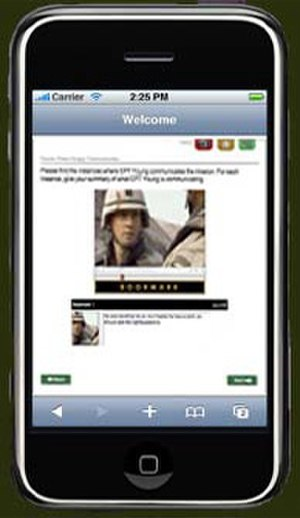 M-learning - The use of mobile learning in the military is becoming increasingly common due to low cost and high portability.