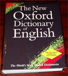 <i>Oxford Dictionary of English</i> A single-volume completely new dictionary first published in 1998