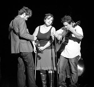 Nickel Creek - Chris Thile, Sara Watkins, and Sean Watkins on the Farewell (For Now) Tour in October 2007.