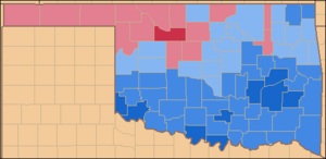 United States presidential election in Oklahoma, 1964 - Image: Oklahoma 1964