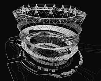London Stadium - Exploded view of the stadium's layers