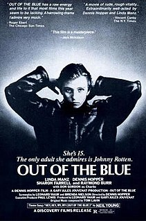 <i>Out of the Blue</i> (1980 film) 1980 drama film directed by and starring Dennis Hopper