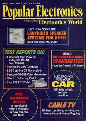 Popular Electronics - Popular Electronics had a major update starting in 1971 including merging with Electronics World.