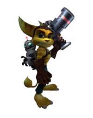 Ratchet & Clank - The two main characters of the series: Clank (left) and Ratchet (right).