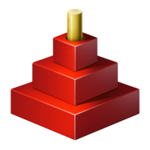 Red Logo (stylized Tower of Hanoi)