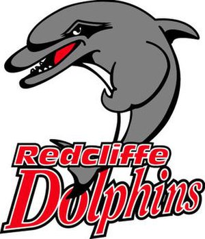 Redcliffe Dolphins - The logo of the Redcliffe Dolphins from the early 2000s (decade) to 2005
