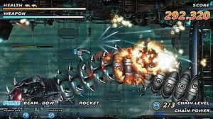 Söldner-X: Himmelsstürmer - Gameplay screenshot of Söldner-X: Himmelsstürmer.