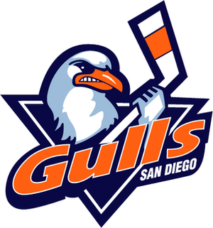 San Diego Sabers - Team logo when the franchise played as the San Diego Gulls 2008–15.