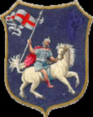 Edistus - Image of Saint Edistus on coat-of-arms for Sant'Oreste