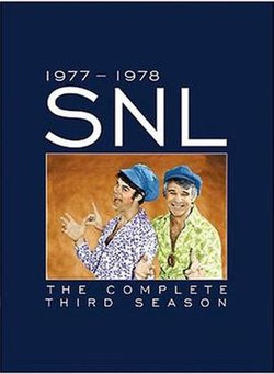 The title card for the third season of Saturday Night Live.