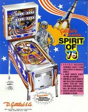 Spirit of 76 (pinball) - Image: Spiritof 76Pinball Flyer