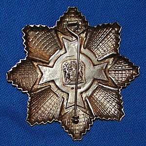 Star of South Africa, Silver - Breast star reverse