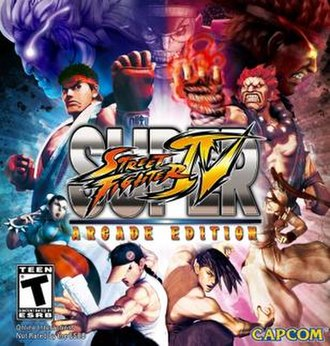 Super Street Fighter IV: Arcade Edition - North American cover art