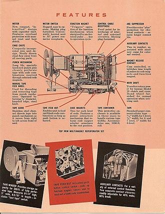Teletype Model 28 - The Teletype Corporation Model 28 Tape Punch Set