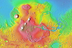 MOLA colorized relief map of the western hemis...