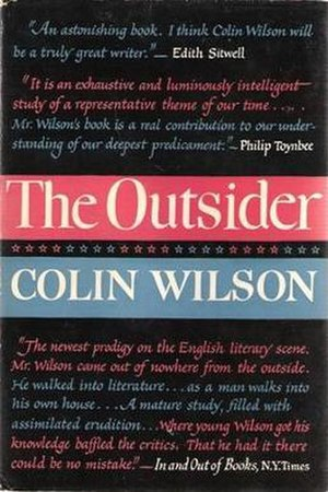 The Outsider (Colin Wilson) - Cover of the first US edition