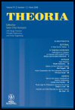 Theoria (philosophy journal) - Image: Theoria – A Swedish Journal of Philosophy