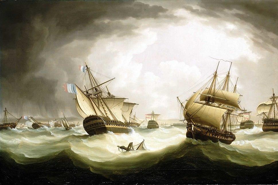 Trafalgar, ships scattered