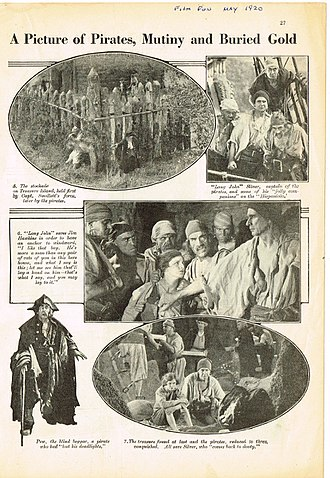 Treasure Island (1920 film) - Treasure Island 1920 film magazine article