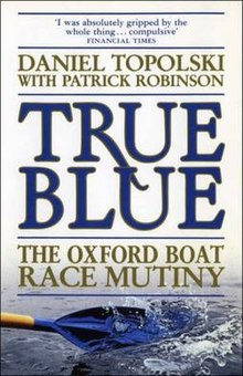 Book cover featuring a photograph of a dark blue rowing blade