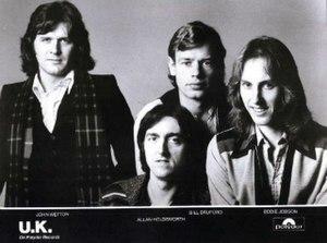 UK, 1978. L-R: John Wetton, Allan Holdsworth, ...