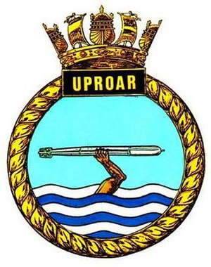 HMS Uproar - Image: UPROAR badge 1