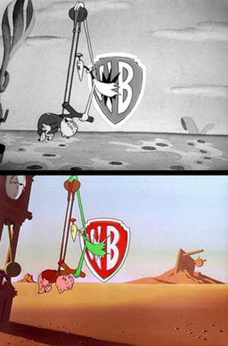Porky in Wackyland - Identical moments from Porky in Wackyland and its color remake, Dough for the Do-Do.