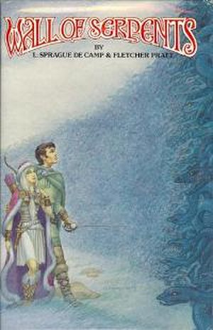 Phantasia Press - George Barr's cover illustration for Phantasia's first publication, L. Sprague de Camp and Fletcher Pratt's Wall of Serpents (Phantasia, 1978).