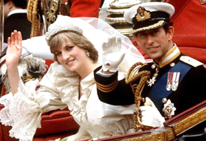 Wedding of Charles, Prince of Wales, and Lady Diana Spencer - Charles, Prince of Wales, and Lady Diana Spencer on their wedding day.