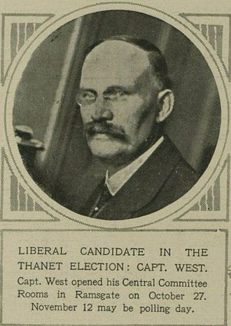 Isle of Thanet by-election, 1919 - Image: William James West