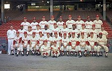 Team photograph of the 1964 Philadelphia Phillies