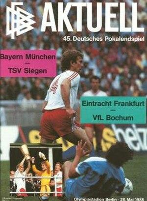 1988 DFB-Pokal Final - Image: 1988 DFB Pokal Final programme