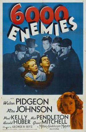 6,000 Enemies - US Film Poster