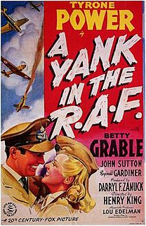 <i>A Yank in the R.A.F.</i> 1941 American black-and-white war film directed by Henry King