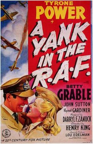 A Yank in the R.A.F. - Original theatrical release poster