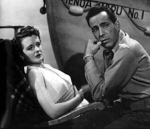 Across the Pacific - Alberta Marlow (Mary Astor) and Rick Leland (Humphrey Bogart) aboard the Genoa Maru.