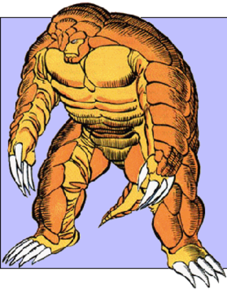 Armadillo (comics) - Armadillo, as seen in Marvel Universe Art by John Byrne.