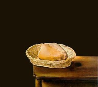 <i>Basket of Bread</i> painting by Salvador Dali