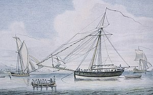 Bermuda sloop - A Bermuda sloop engaged as a privateer.