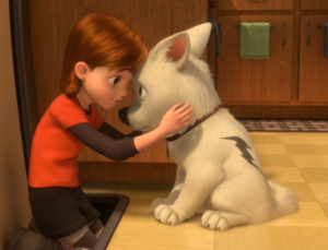 Bolt (Disney character) - Bolt and Penny are allowed a few minutes together after each shooting.