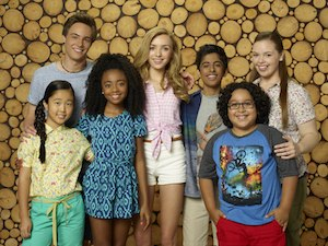 Bunk'd - The main characters: Tiffany, Xander, Zuri, Emma, Ravi, Jorge, and Lou.