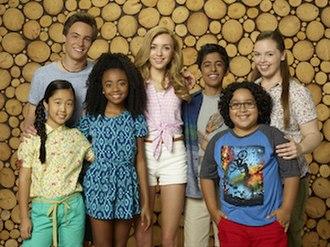 Bunk'd - The main characters: Tiffany, Xander, Zuri, Emma, Ravi, Jorge, and Lou.