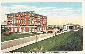 Cumberland Valley Railroad - CVRR station and offices in Chambersburg, Pennsylvania